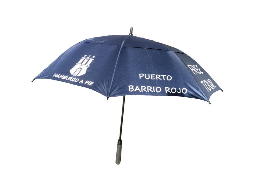 Los paraguas azules